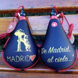 Bota de vino recuerdo de Madrid