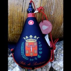 Bota de vino látex exterior tela recuerdo de sarinena