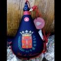 Bota de vino látex exterior tela escudo de Sariñena