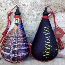 Bota vino recuerdo de Segovia