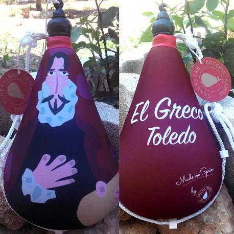 Bota vino recuerdo de Toledo el Greco