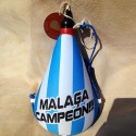Bota de vino látex exterior tela Málaga Club de Fútbol