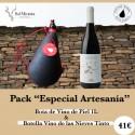 Bota de vino + Botella Vino de las Nieves