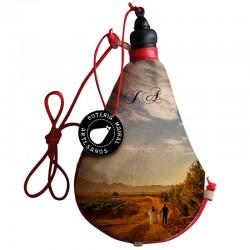 Bota de vino látex exterior tela